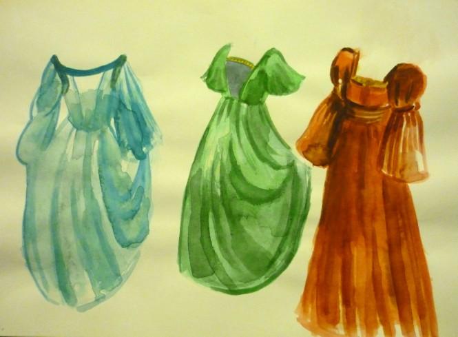 Μακέτες κοστουμιών για το έργο Η ΞΥΛΟΜΑΡΙΑ  (2)